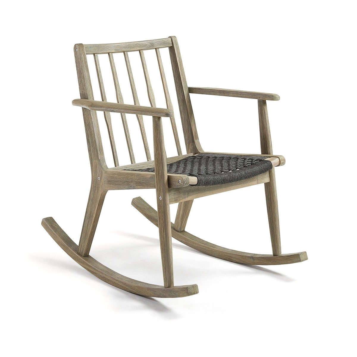 Krinis Acacia Timber Rocking Chair with Rope Seat