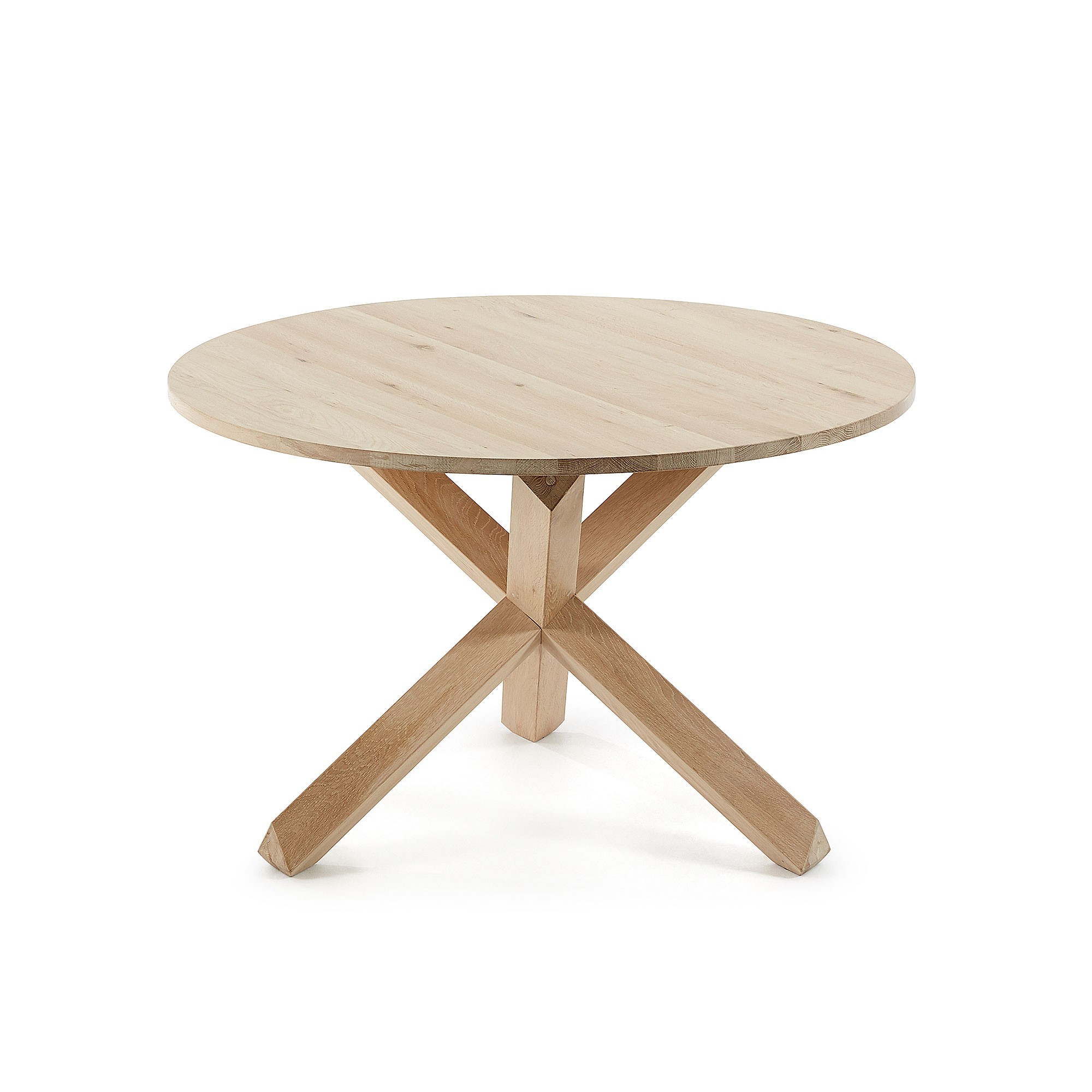 Haydon Oak Timber Round Dining Table,Timber Top, 120cm