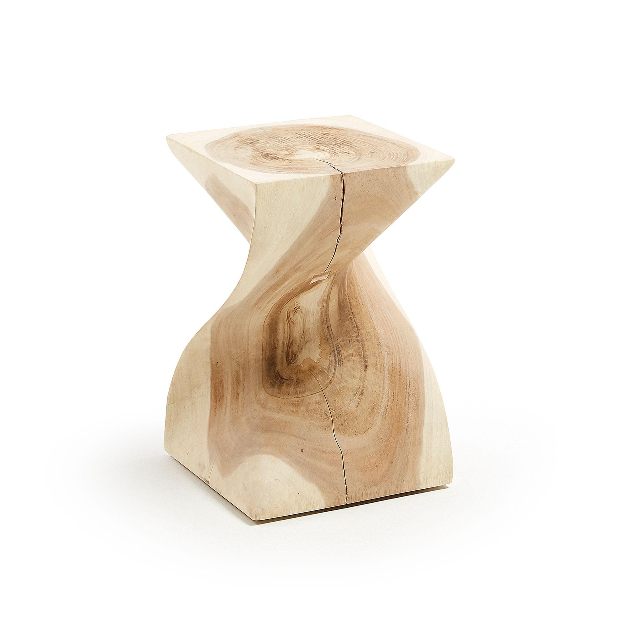 Rofelle Mungur Wood Side Table