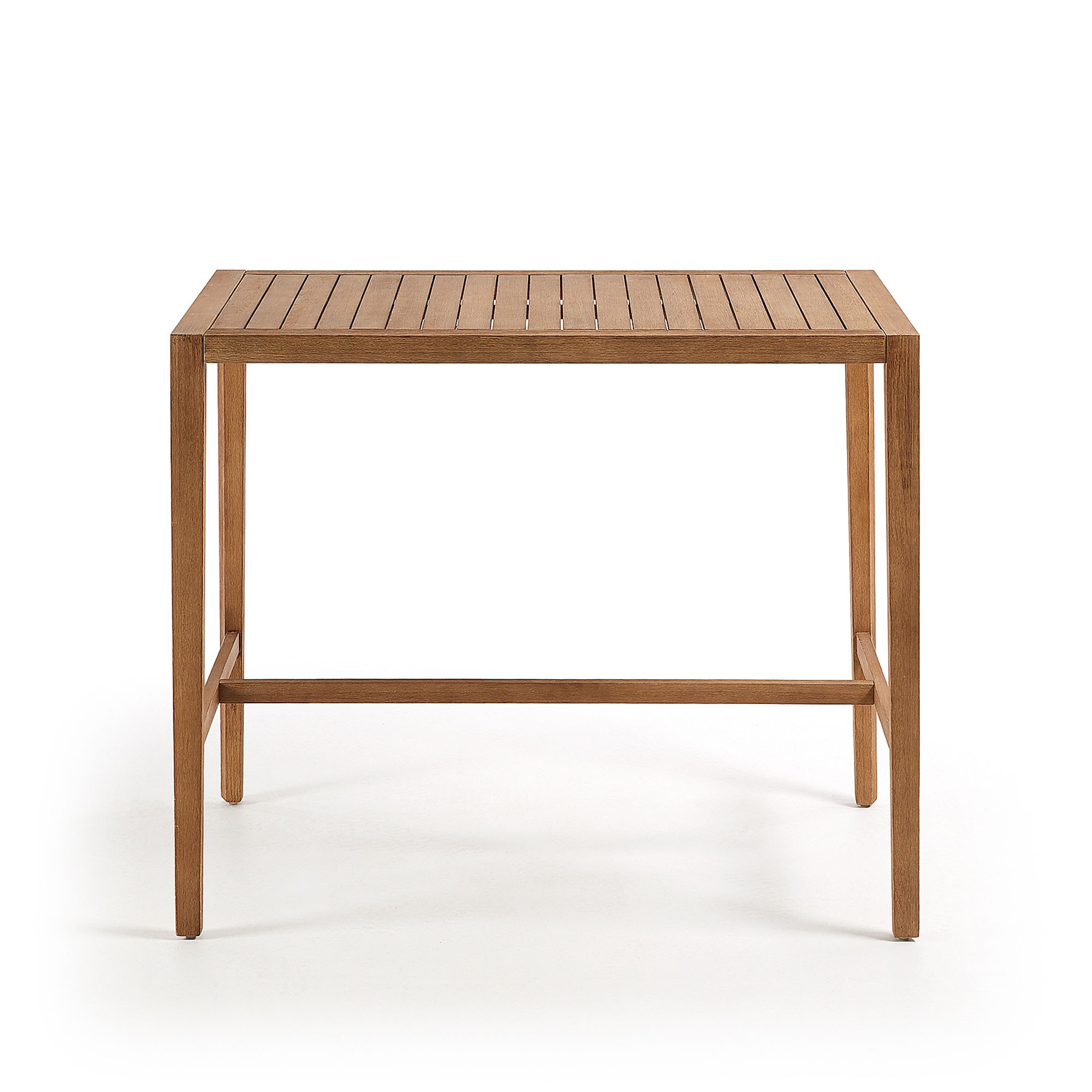 Grendon Eucalyptus Timber Outdoor Bar Table, 130cm