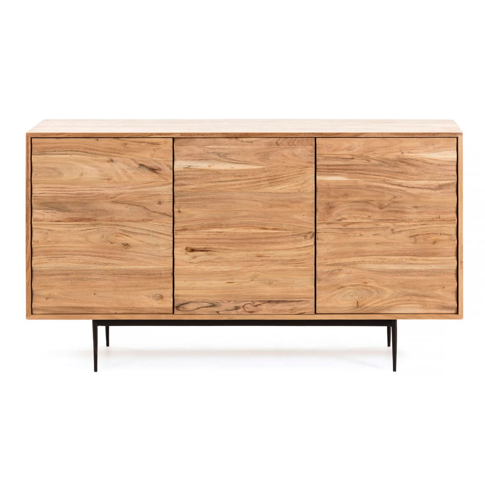 Duncan Handmade Acacia Timber 4 Door Sideboard, 147cm