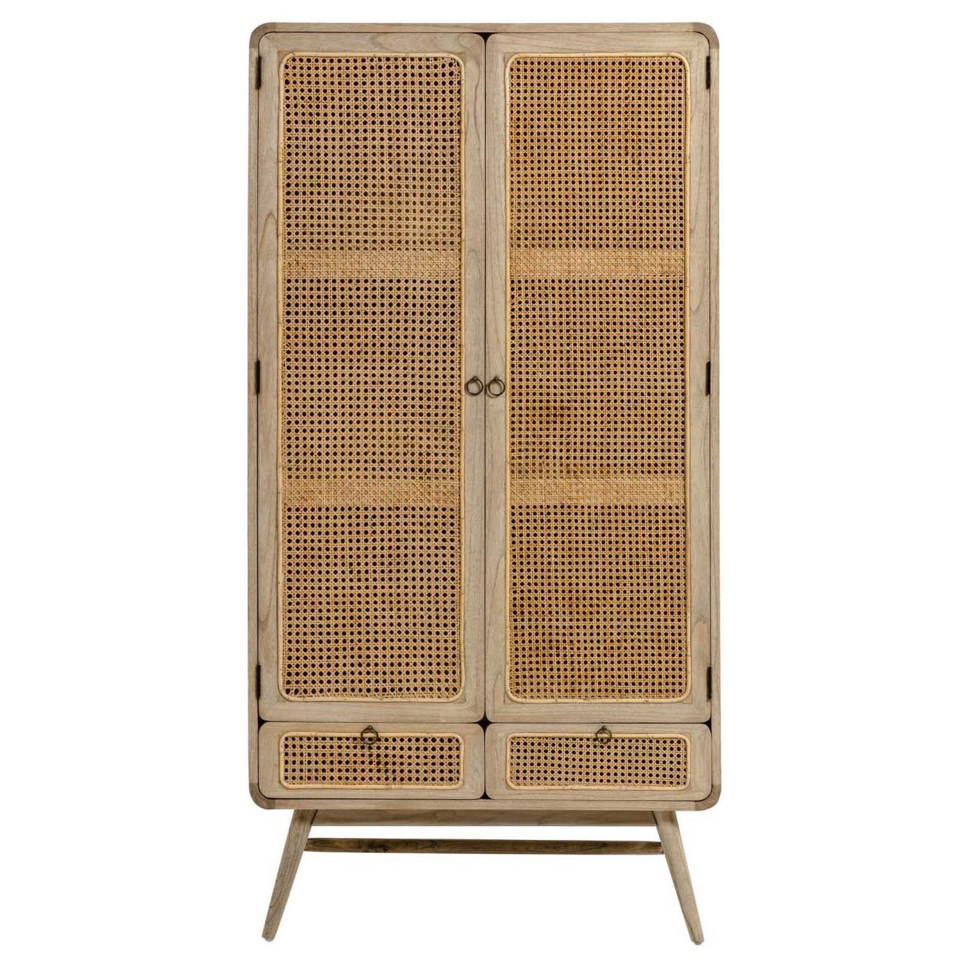 Koura Mindi Wood 2 Door 2 Drawer Cupboard