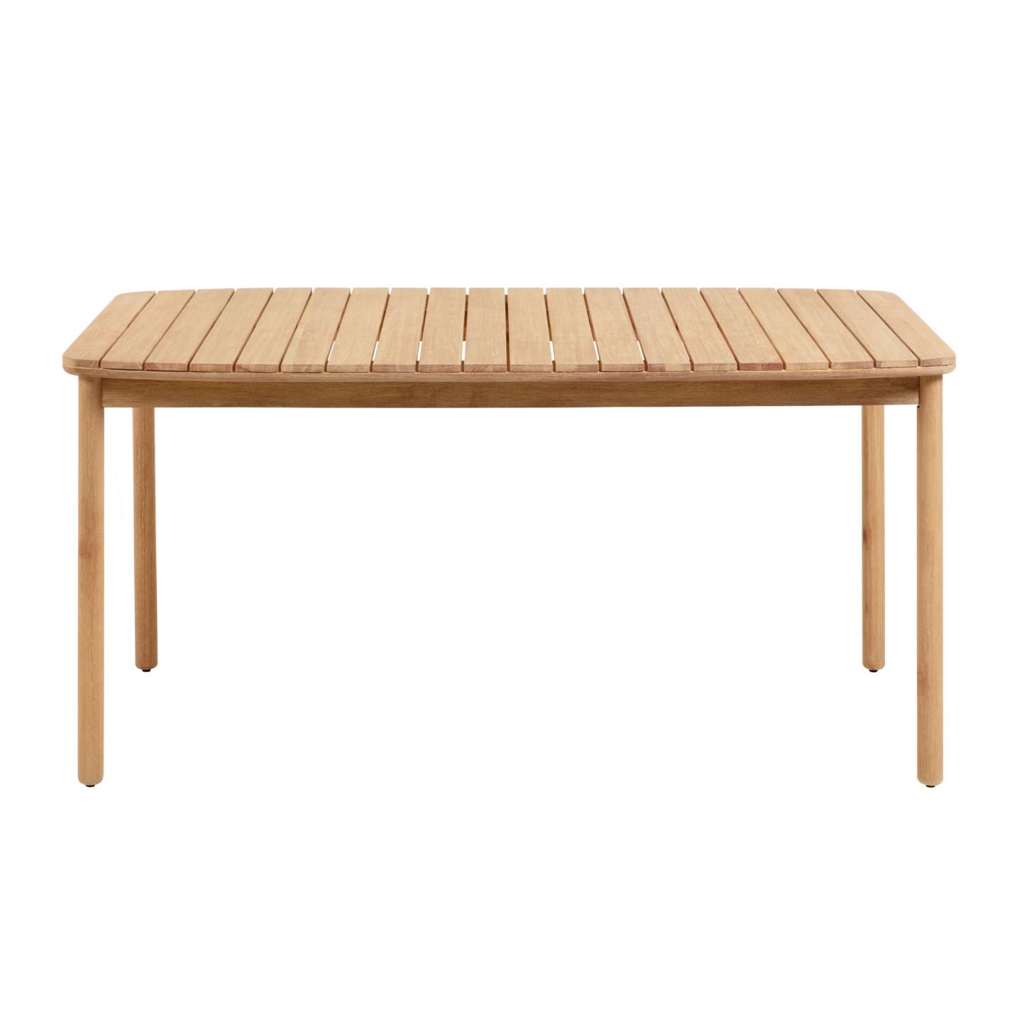 Petone Eucalyptus Timber Outdoor Dining Table, 160cm