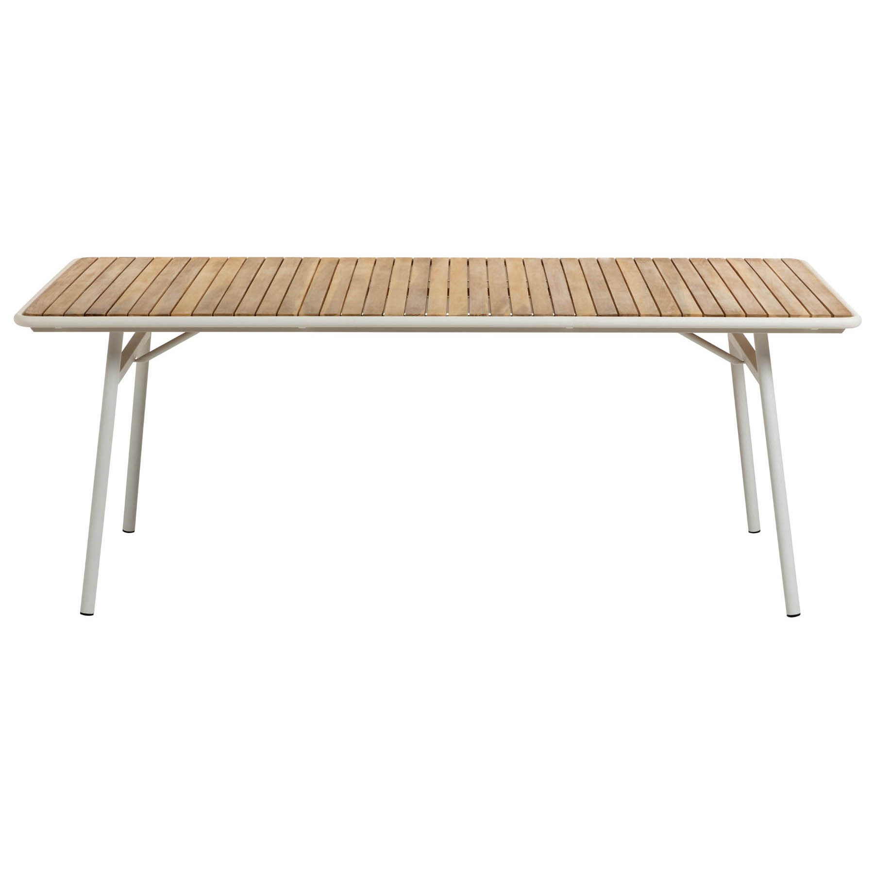 Aro Acacia Timber & Steel Alresco Dining Table, 160cm