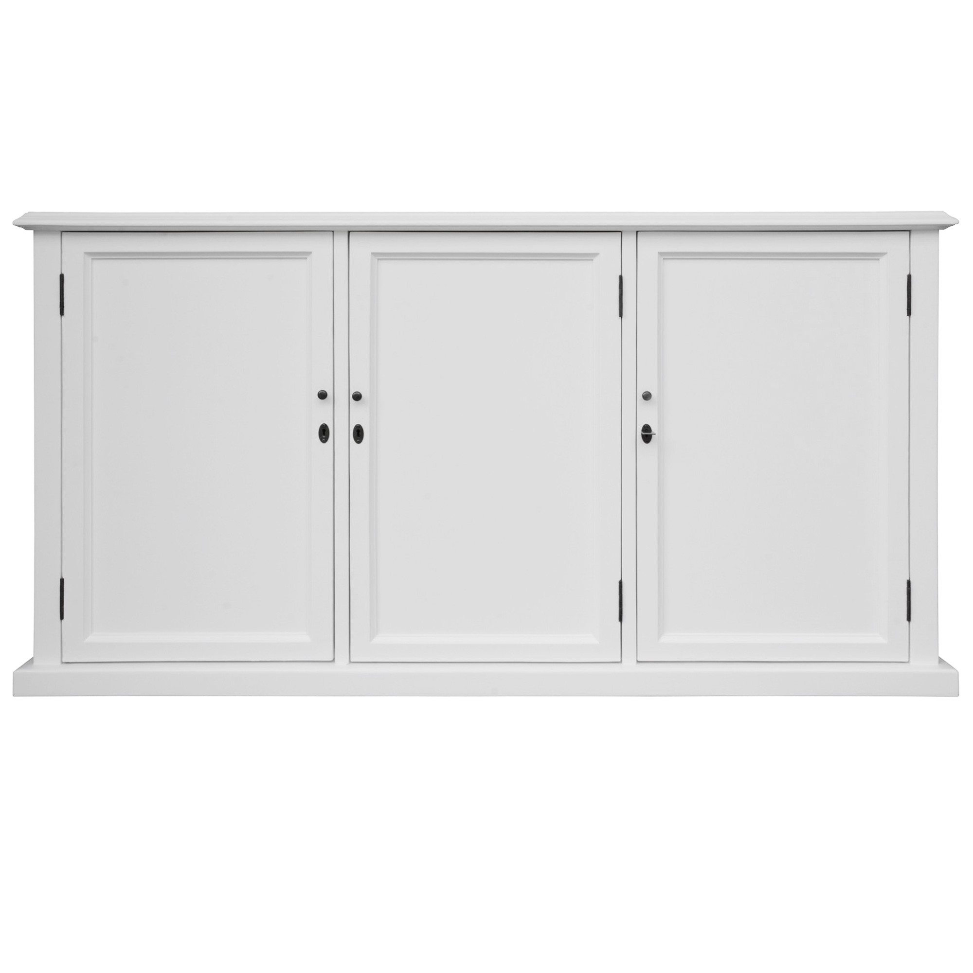 Stroud Acacia Timber 3 Solid Door Sideboard, 172cm, White
