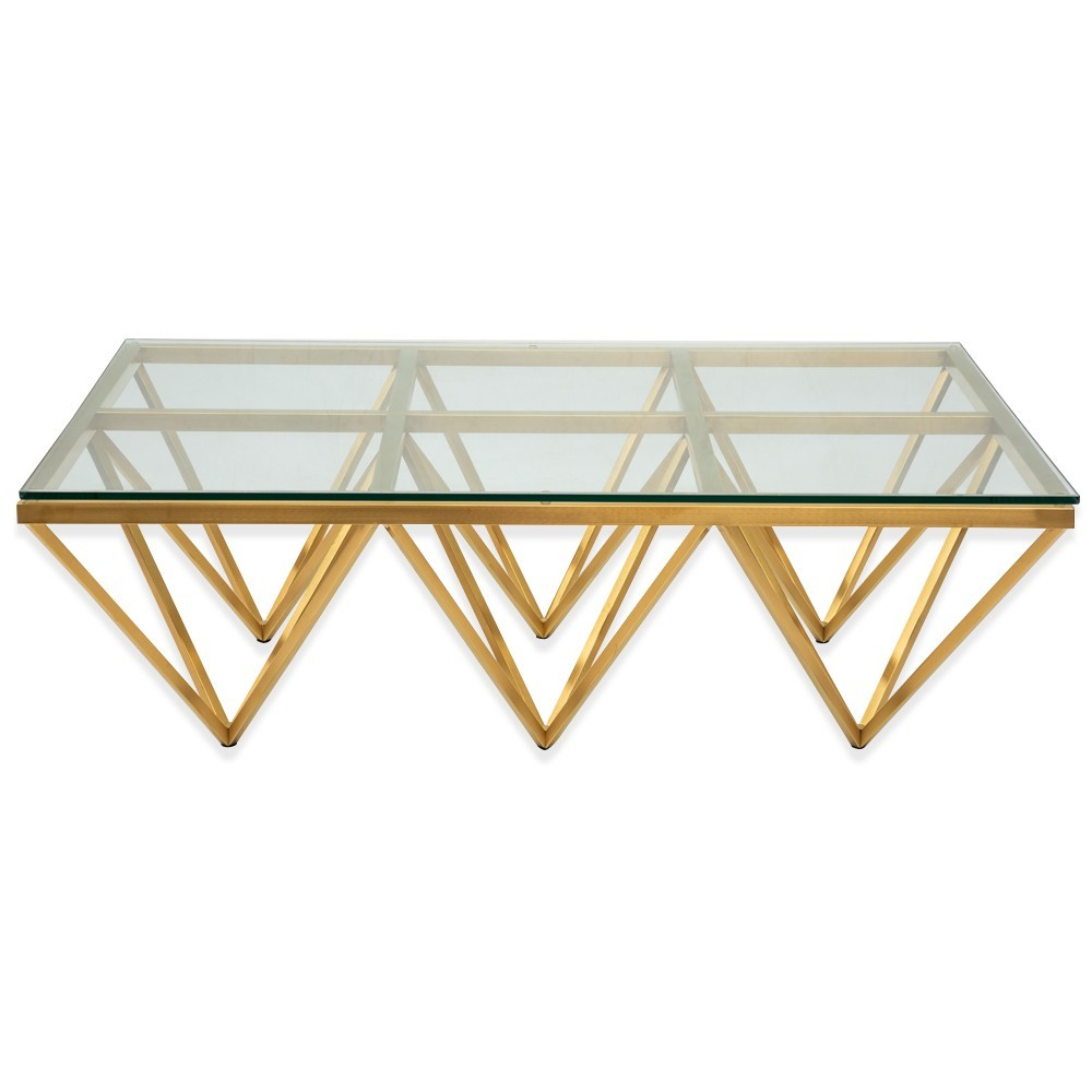 Ramso Glass & Metal Coffee Table, 120cm