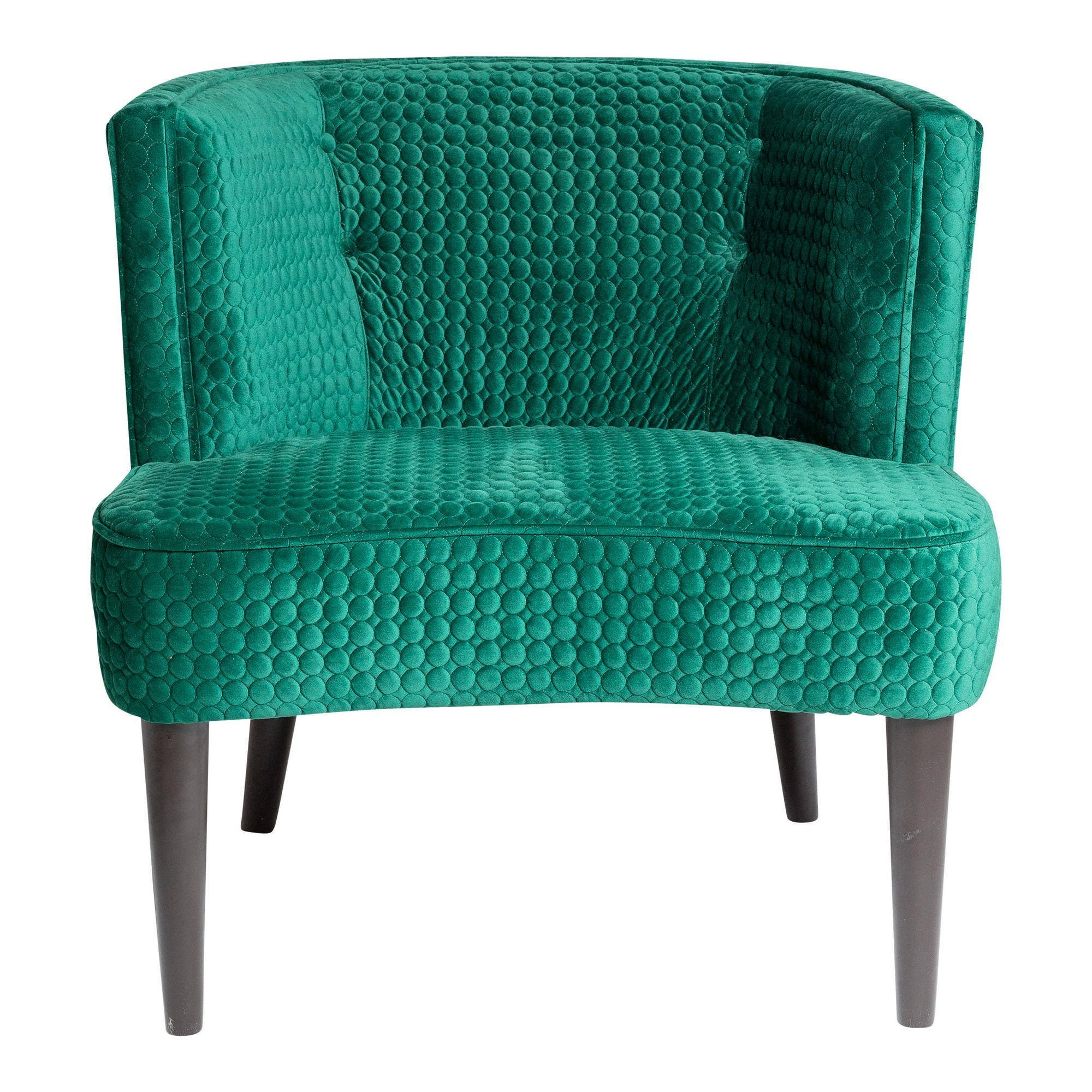Magellan Quilted Velvet Fabric Lounge Chair, Emerald