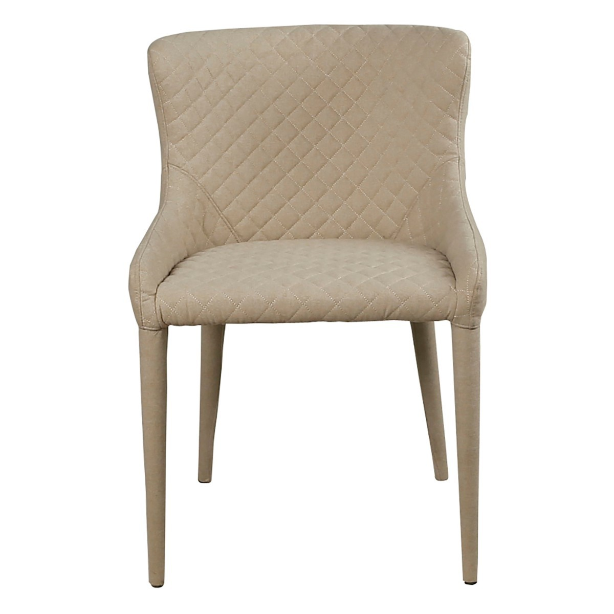 Pretis Commercial Grade Fabric Dining Chair, Bone