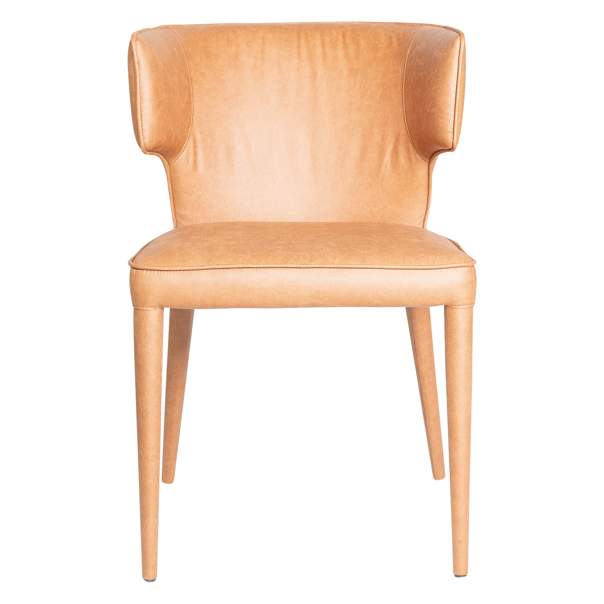 Manzoni Commercial Grade Fabric Dining Chair, Tan
