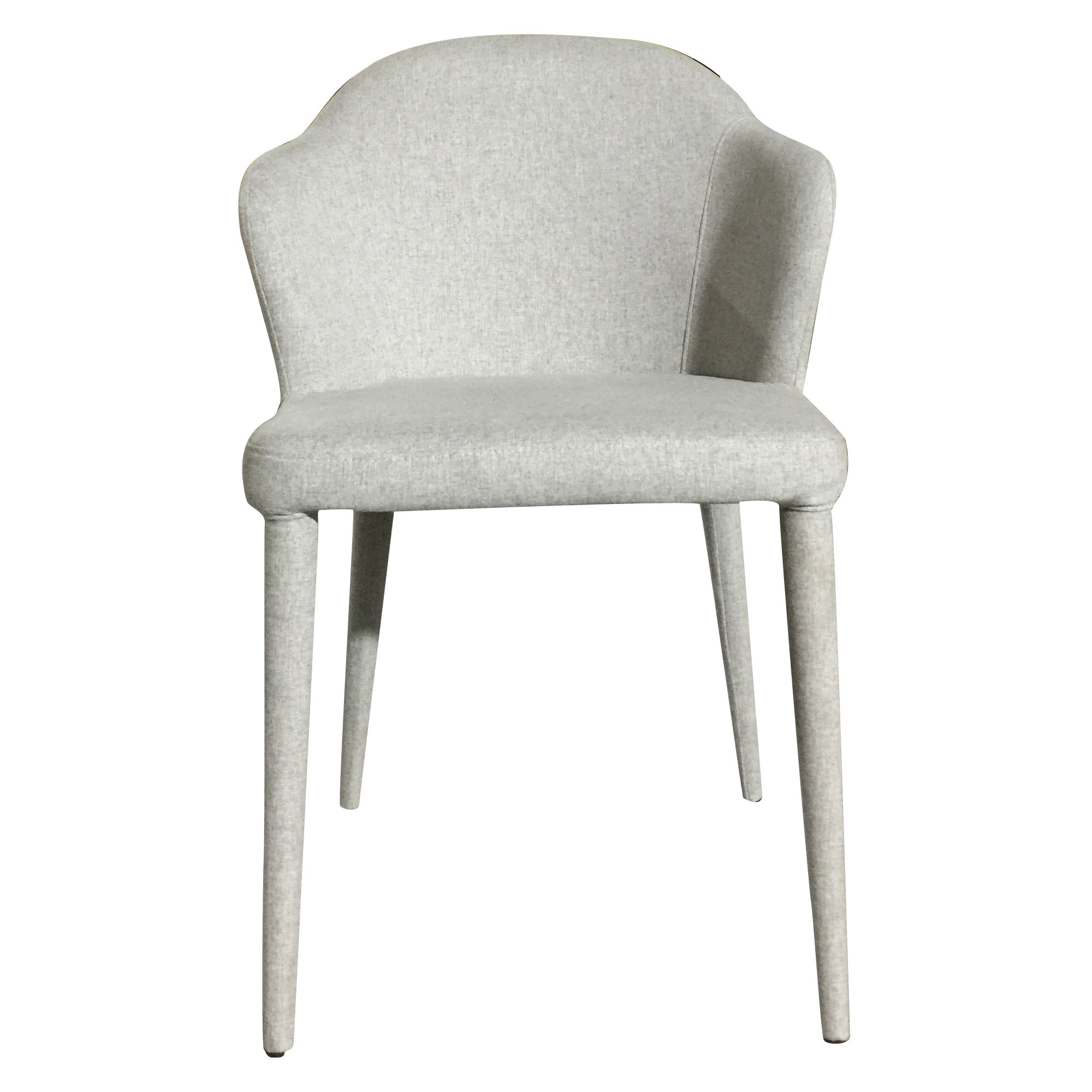 Mario Commercial Grade Fabric Dining Chair, Silver