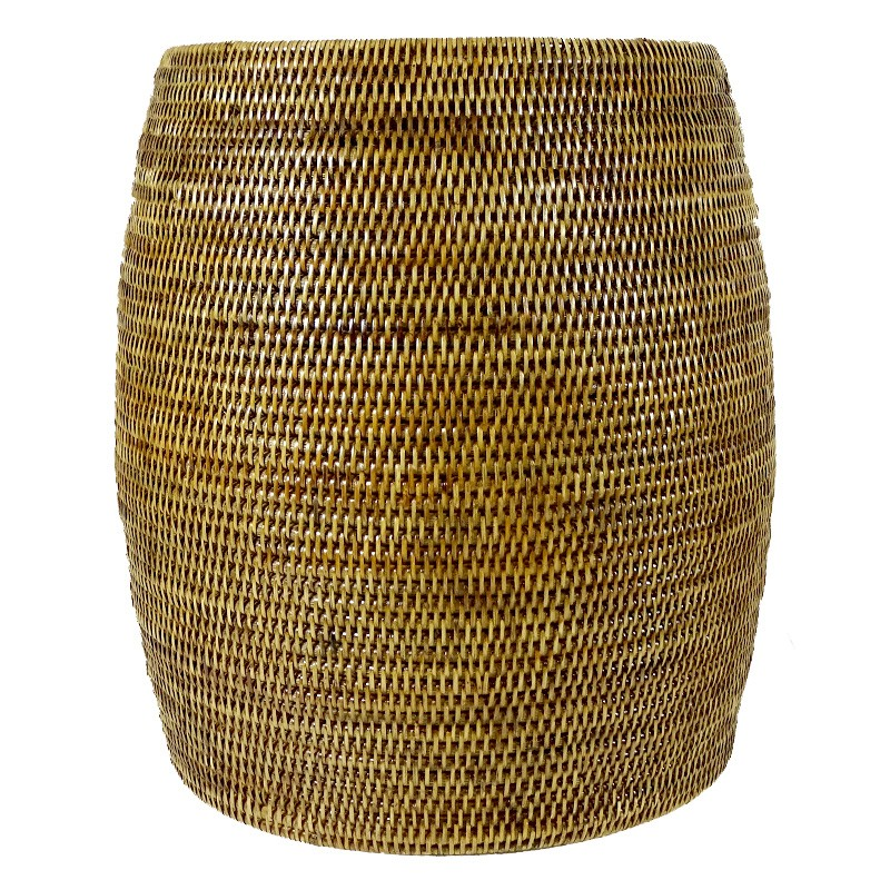 Pindaya Rattan Drum Side Table / Pot, Natural