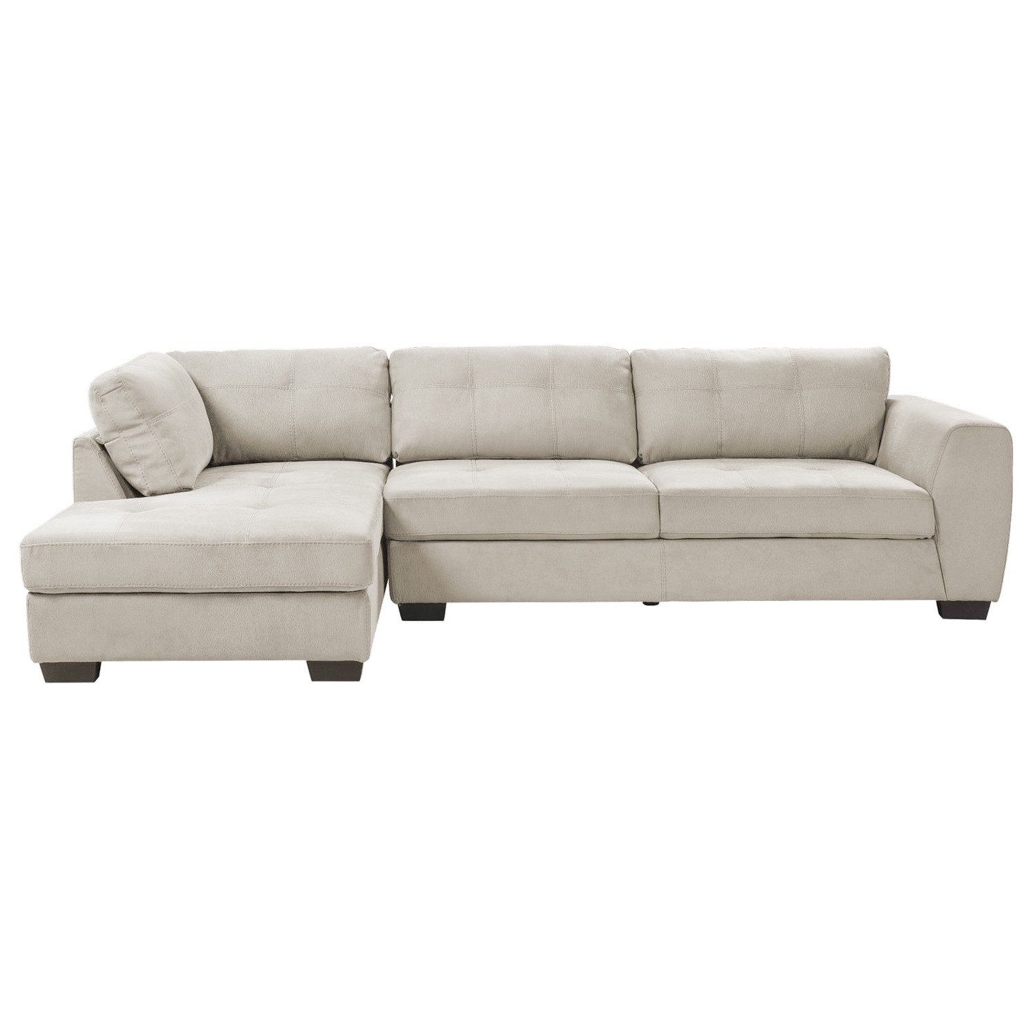 Charlie Fabric Corner Sofa, 2 Seater with Left Hand Facing Chaise, Light Grey