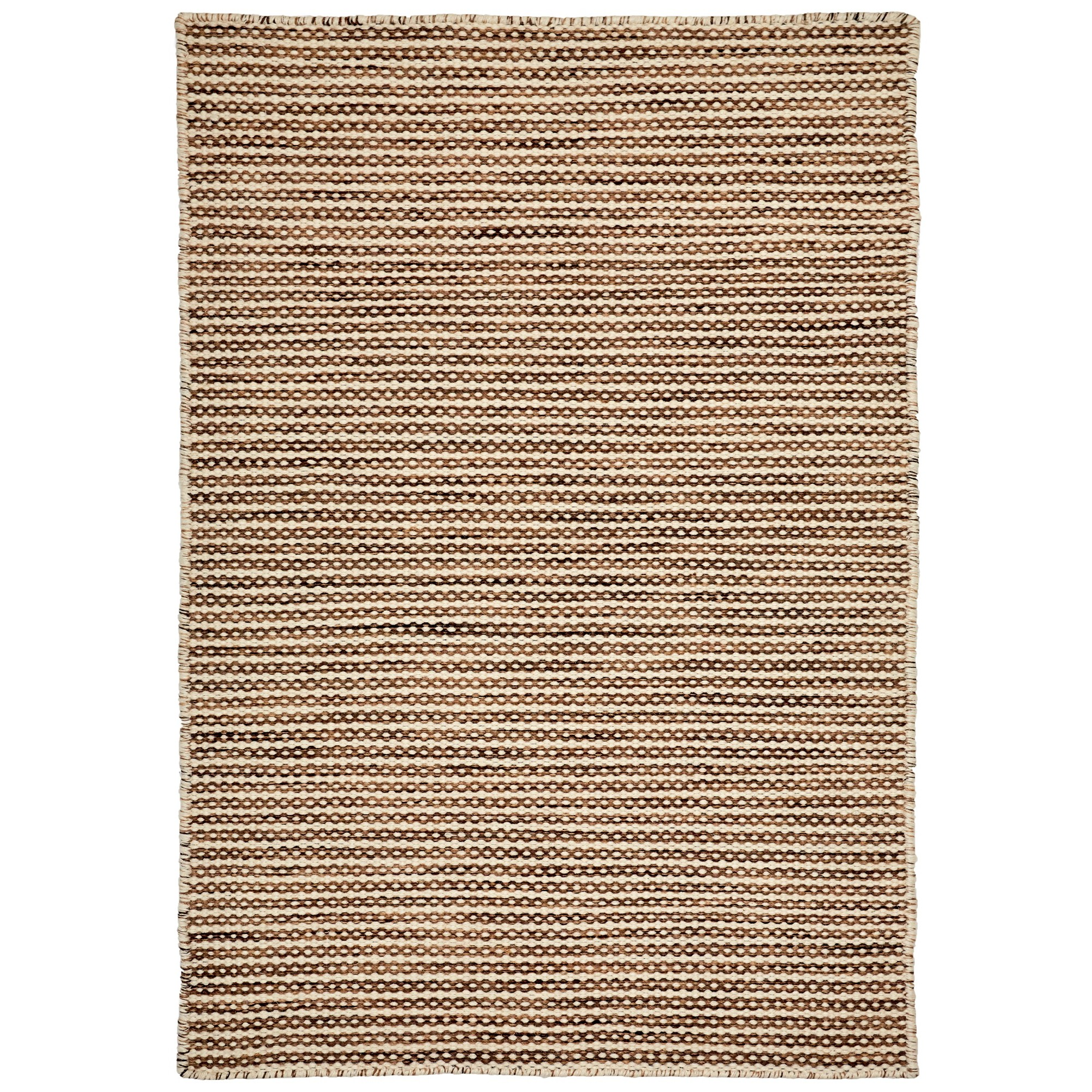 Chicago Handwoven Reversible Wool Rug, 330x240cm, Brown