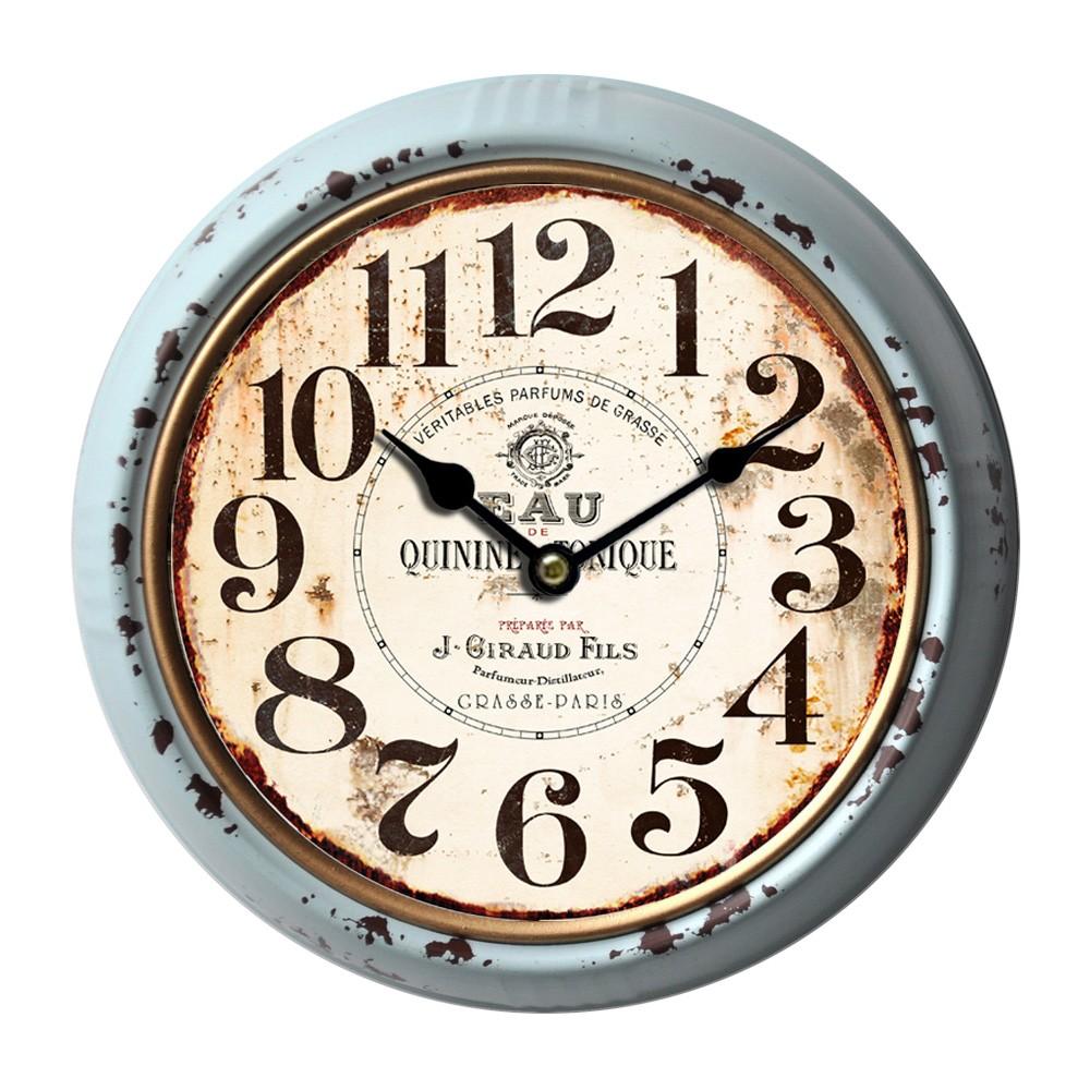 Giraud Vintage Metal Round Wall Clock, 24cm