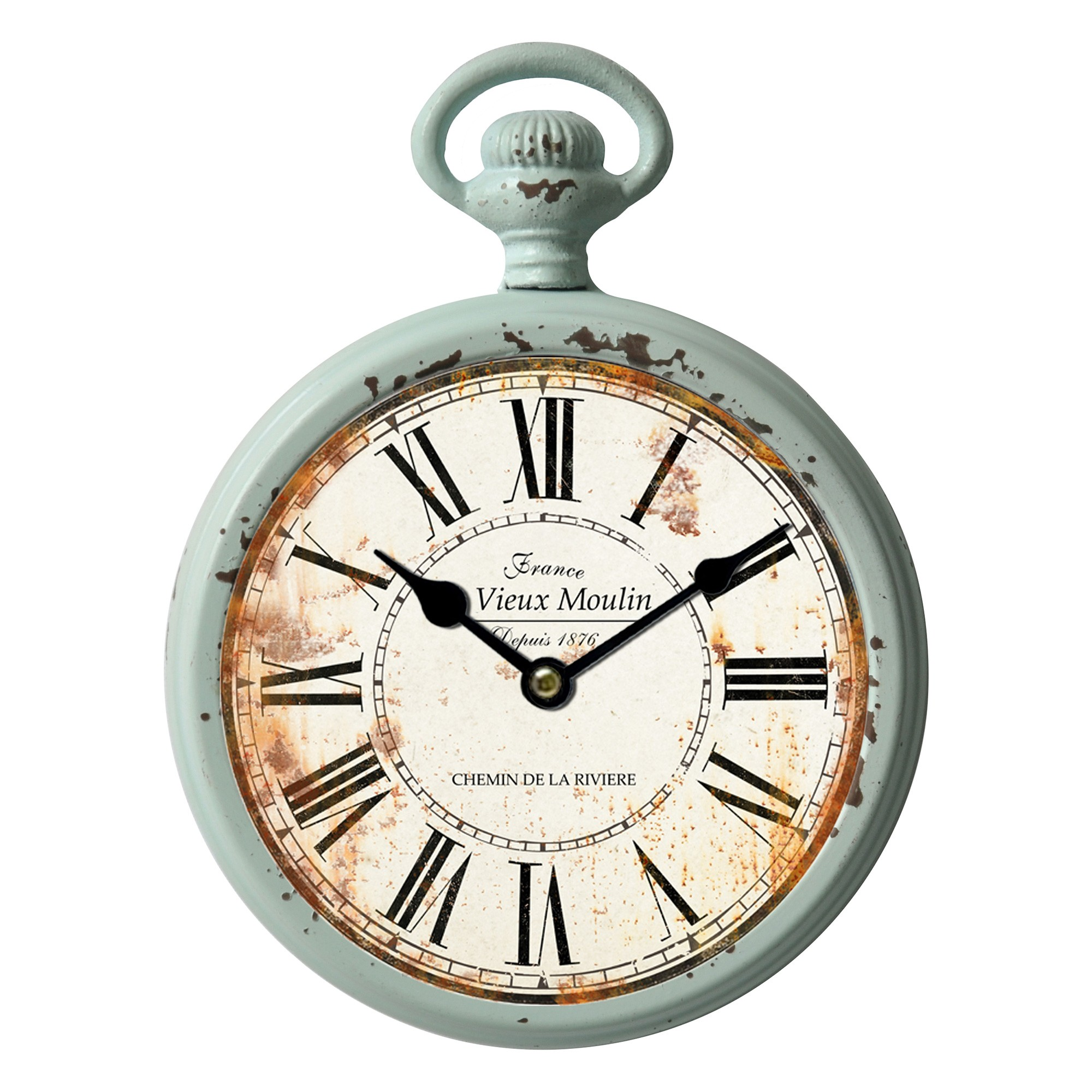 Moulin Vintage Metal Round Wall Clock, 21cm