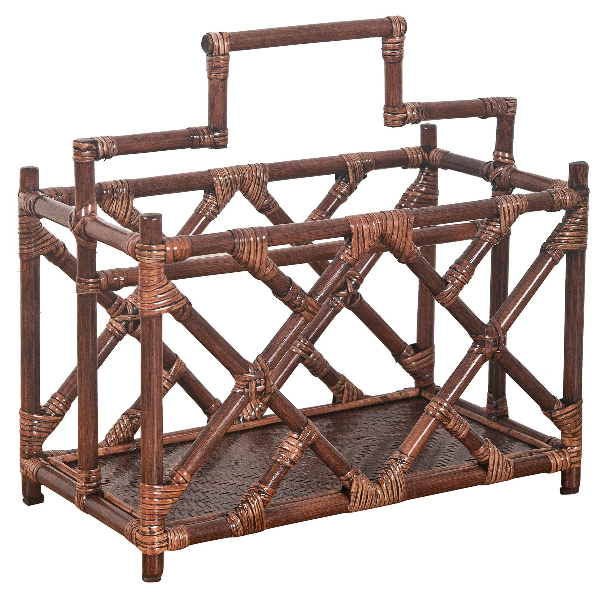 Chippendale Rattan Magazine Rack