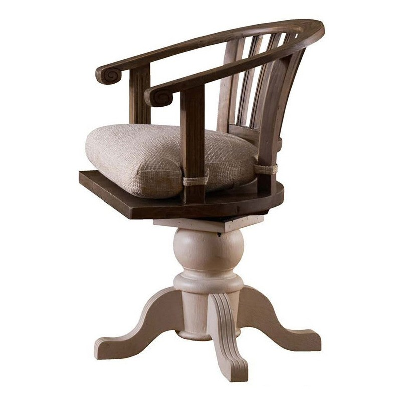 Cornwall Reclaimed Timber Rotating Captain Chair
