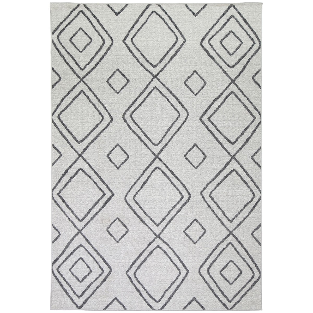 Courtyard Marrakesh Modern Rug, 230x160cm, Ivory / Grey