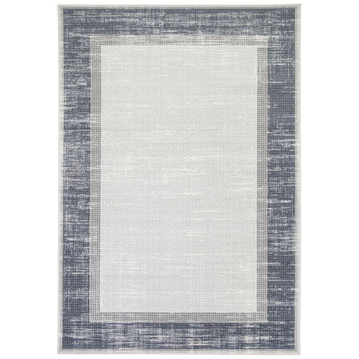 Courtyard New York Modern Rug, 290x200cm, Grey / Blue