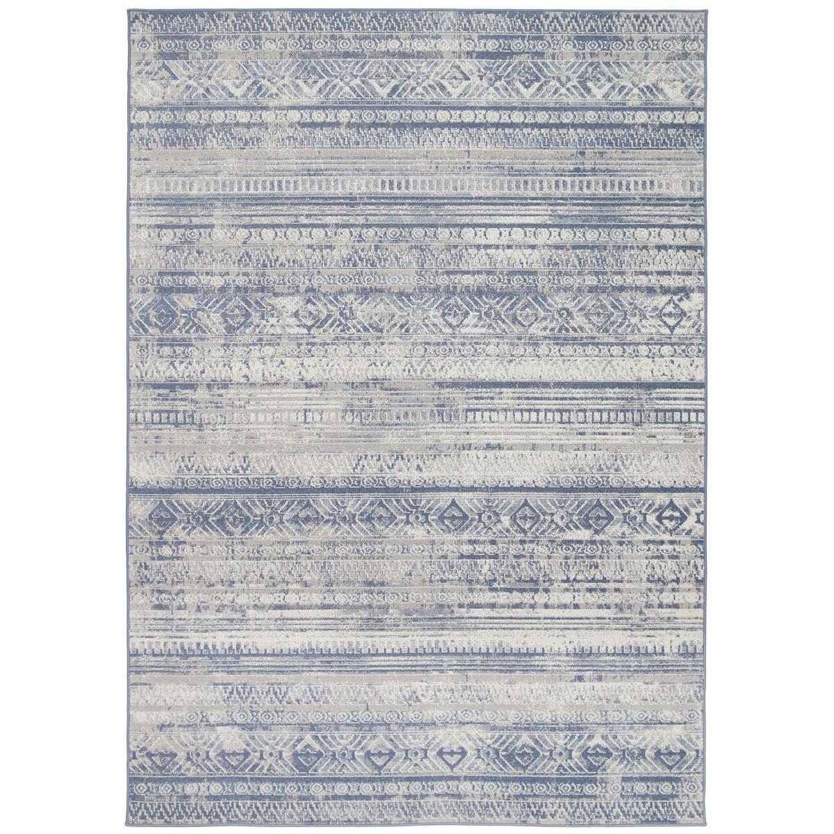 Courtyard Rome Modern Rug, 230x160cm, Blue / Cream