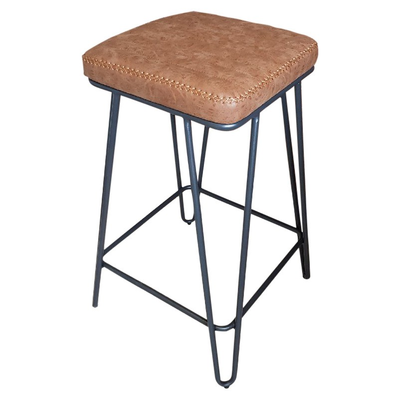 Axl PU Leather Bar Stool, Tan