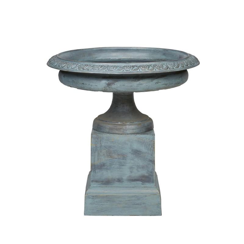 Madison Cast Iron Garden Urn & Pedestal Set