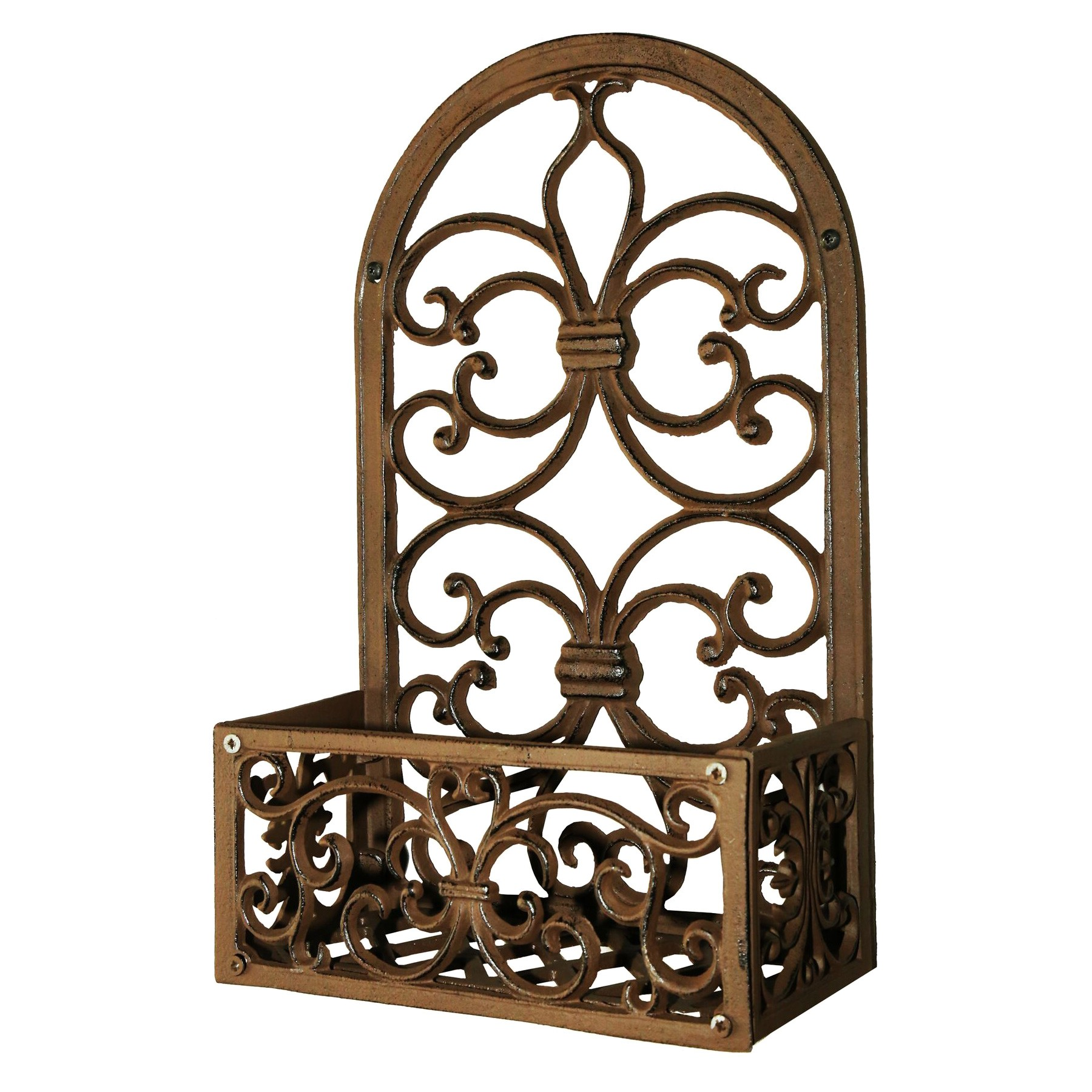 Niall Cast Iron Wall Planter Holder