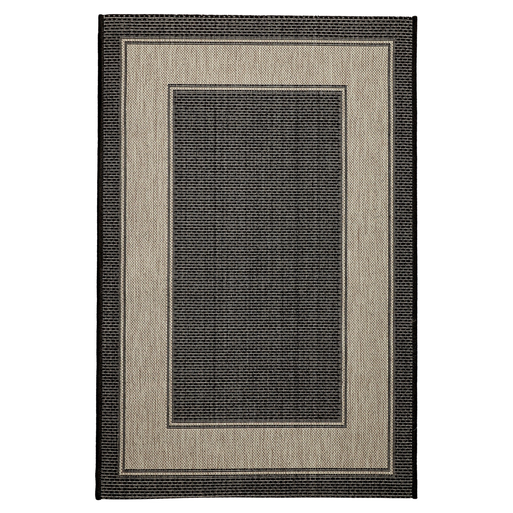 Craft No.391 Modern Indoor / Outdoor Rug, 220x160cm, Black