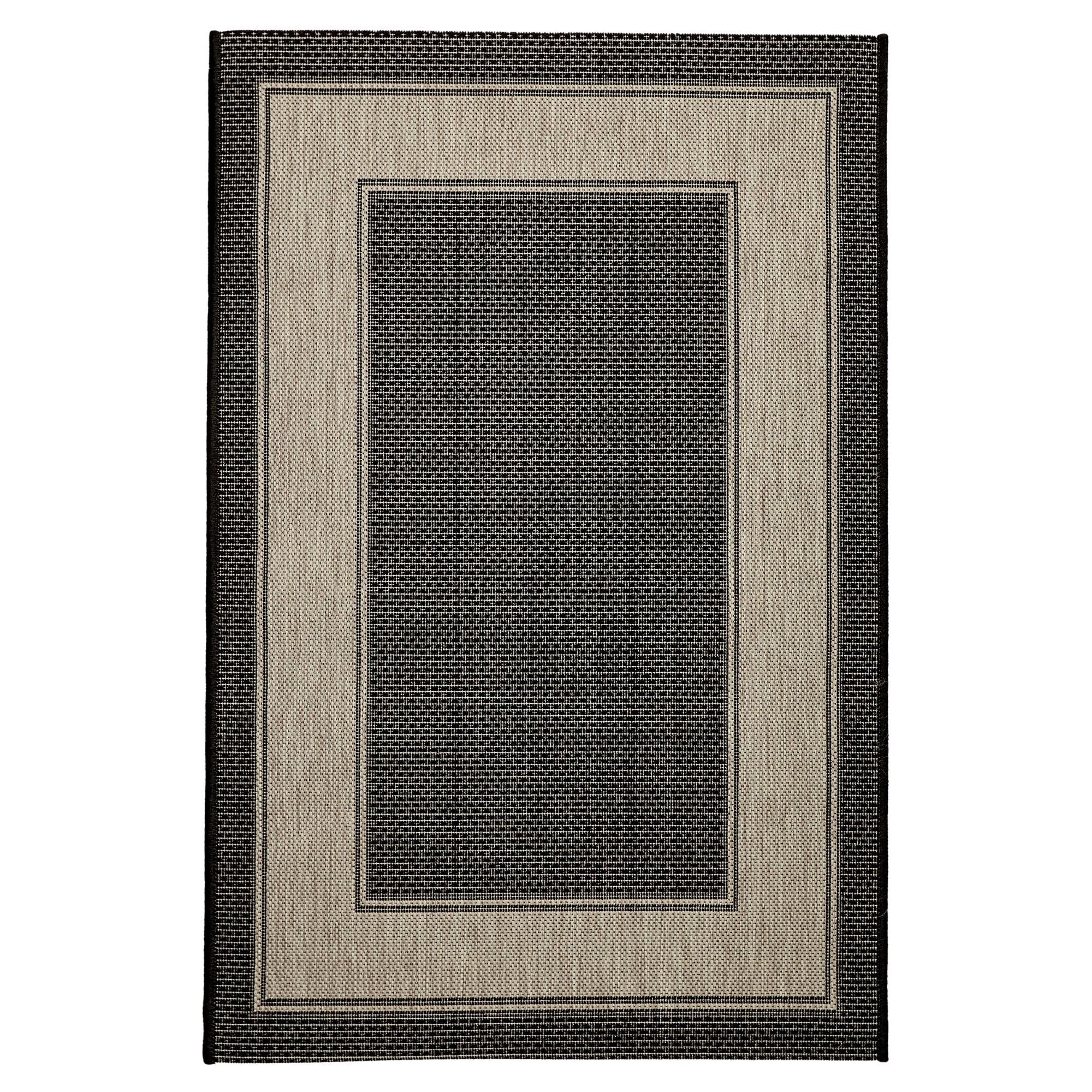 Craft No.391 Modern Indoor / Outdoor Rug, 220x160cm, Black