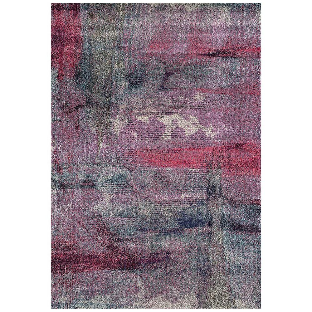 Crystal Jasmin Brushstroke Modern Rug, 240x330cm, Violet
