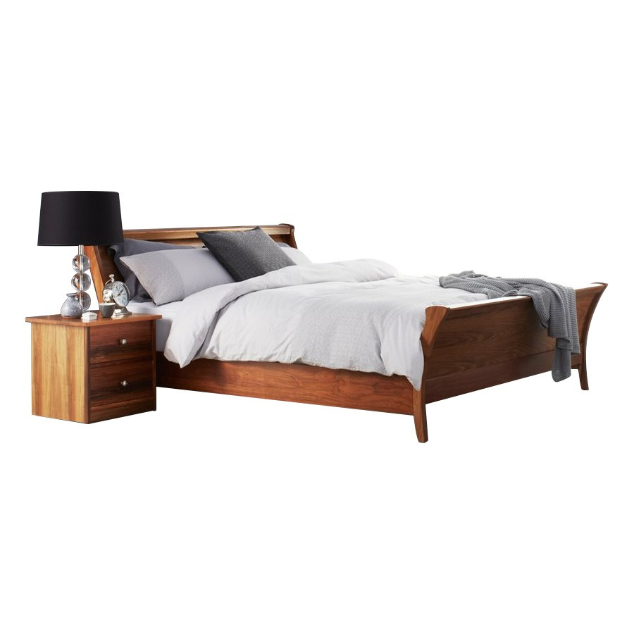 Clifton Blackwood Timber Sleigh Bed, King