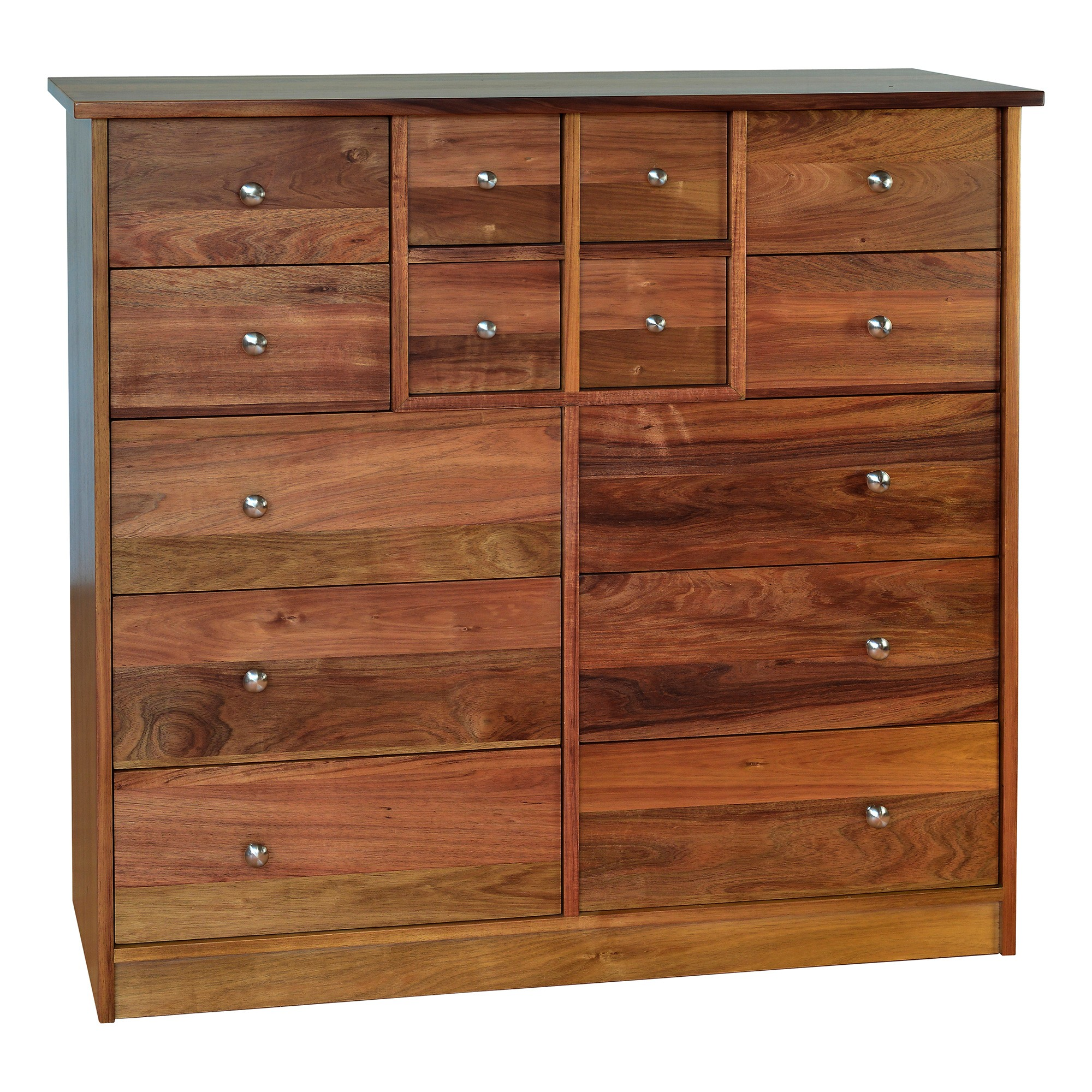 Clifton Blackwood Timber 14 Drawer Chest