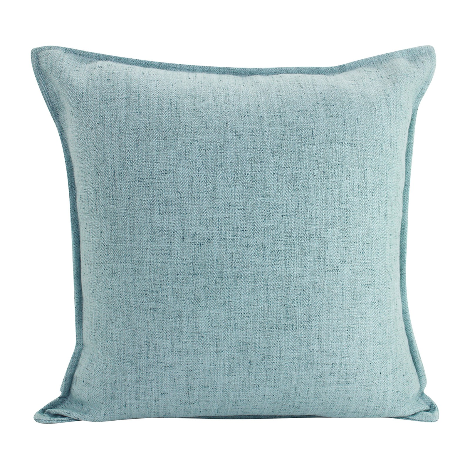 Farra Linen Euro Cushion, Light Blue