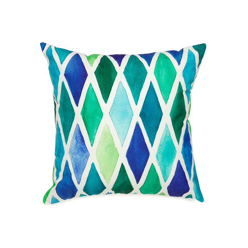 Alma Lattice Outdoor Scatter Cushion, Green