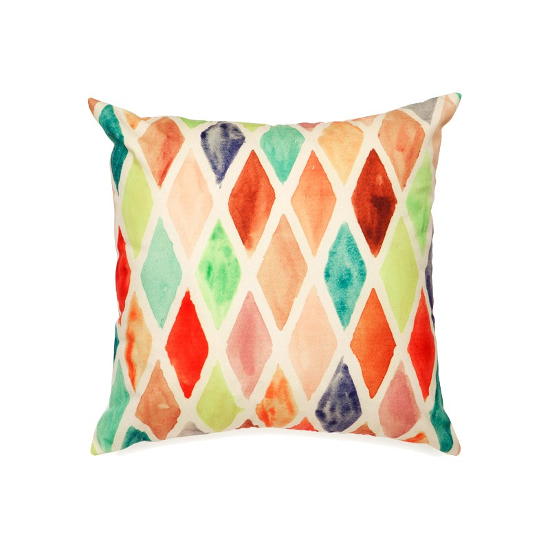 Alma Lattice Outdoor Scatter Cushion, Multi