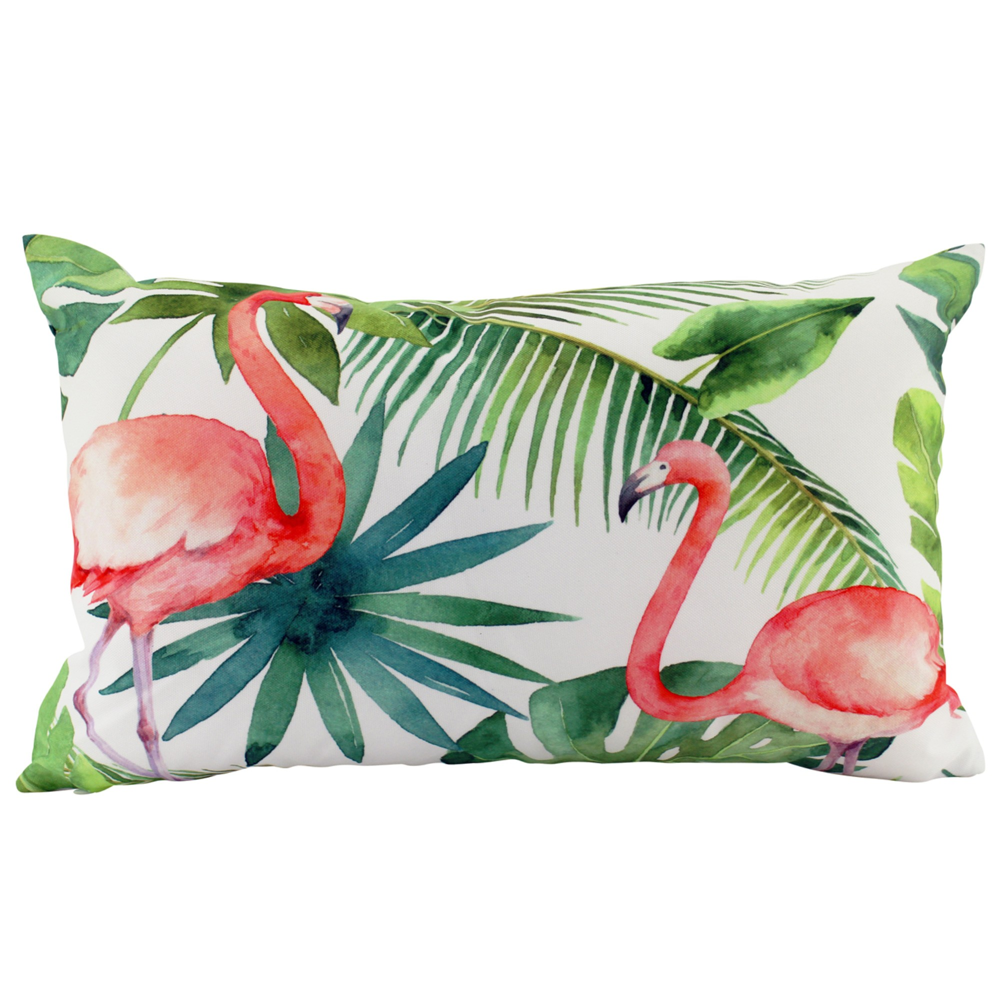 Flamingo Indoor / Outdoor Double Sided Lumbar Cushion