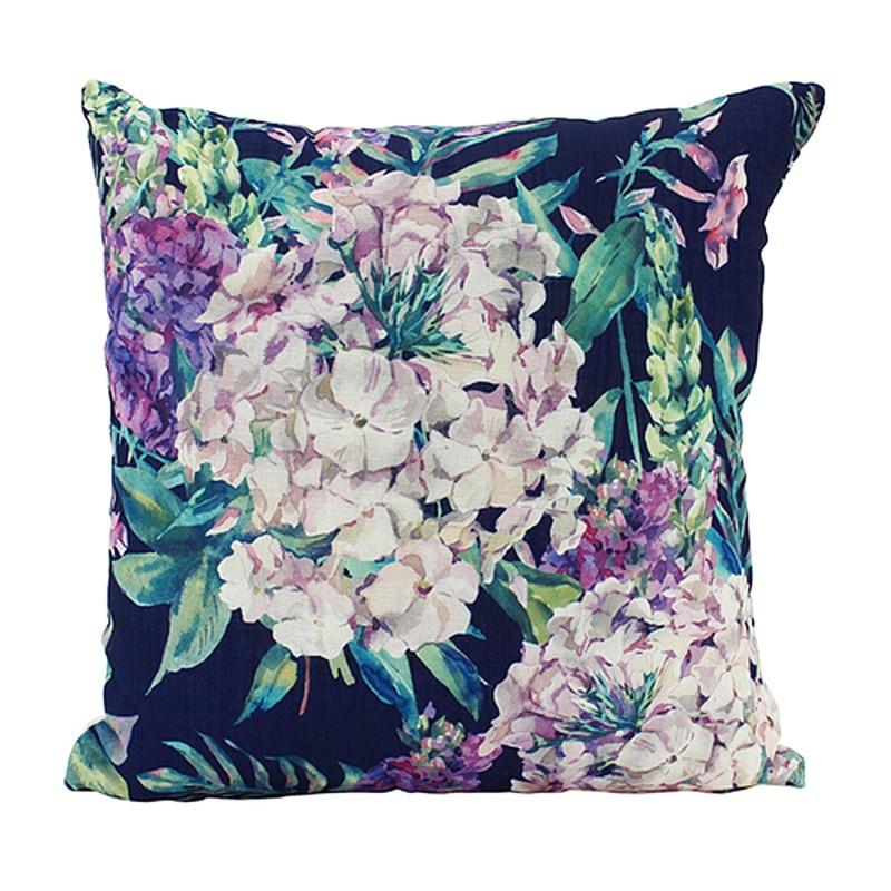 Vintage Botanic Scatter Cushion, Hydrangea