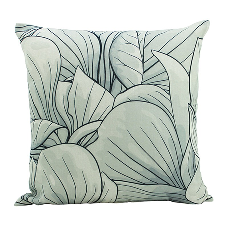 Flower Detail Drawing Scatter Cushion