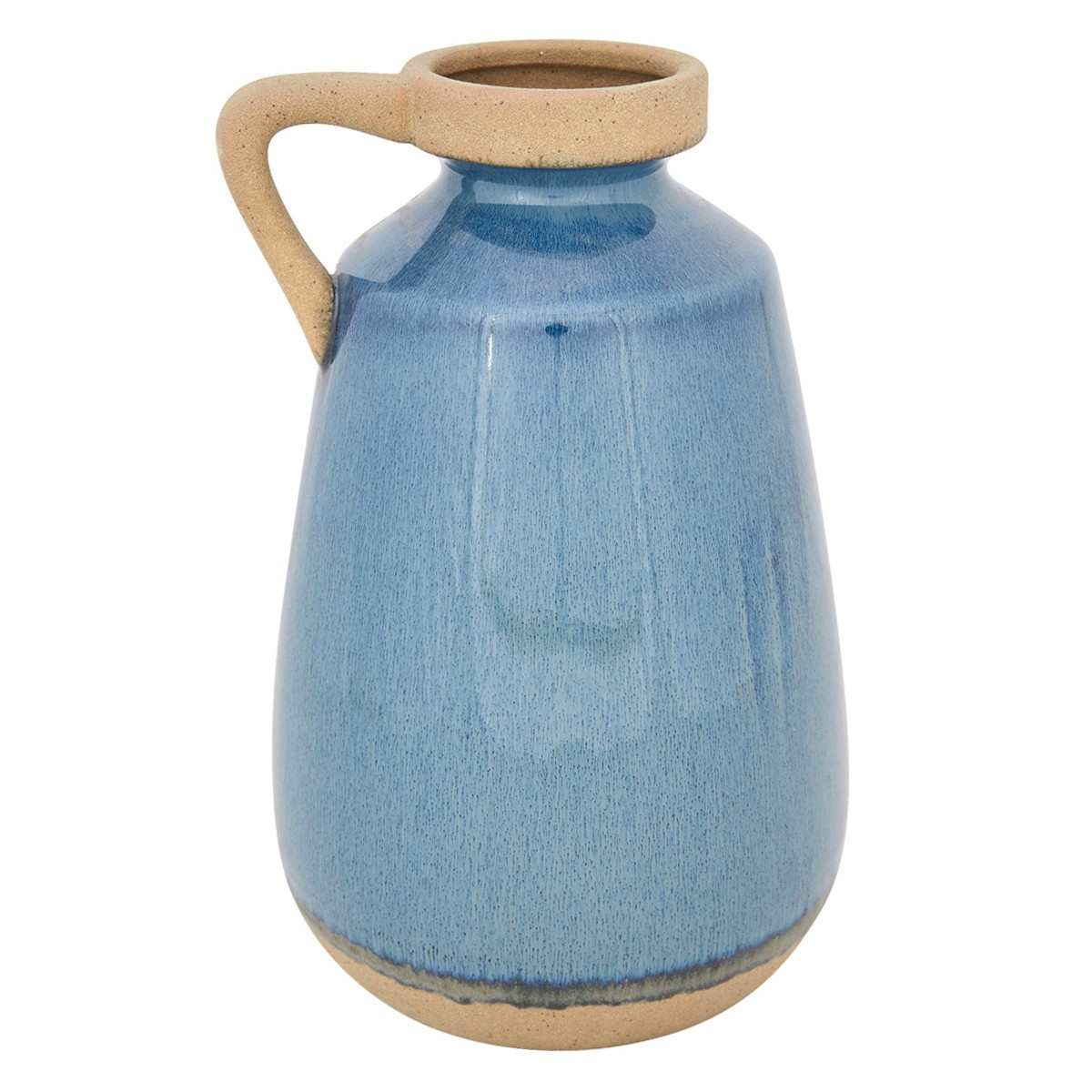 Grecian Ceramic Jug Bud Vase, Small, Blue