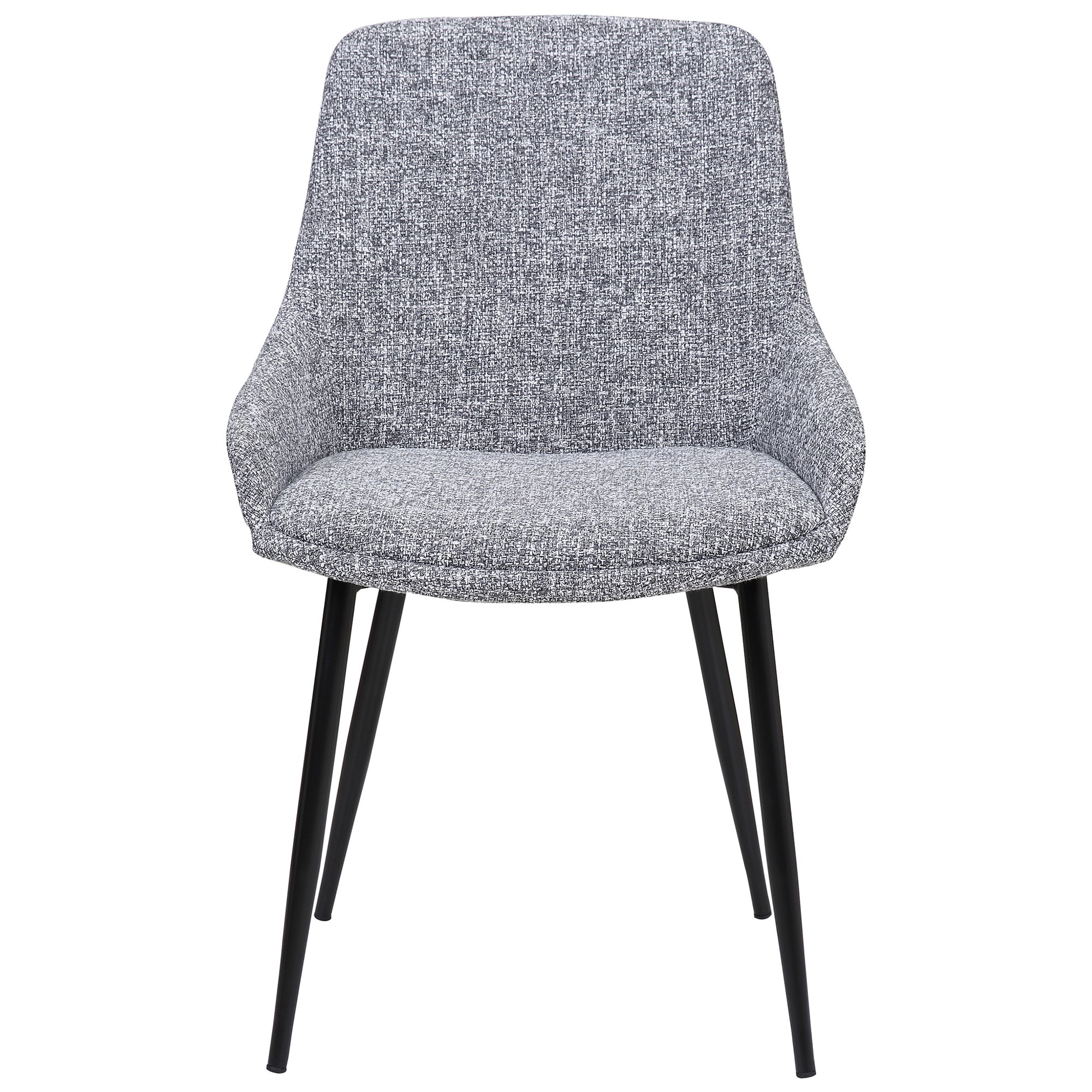 Como Commercial Grade Fabric Dining Chair, Dark Grey