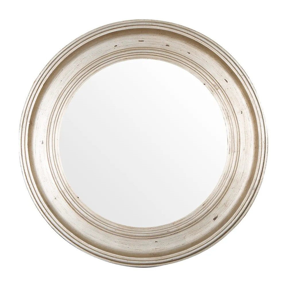 Chelsea Wooden Frame Round Wall Mirror, 80cm-I