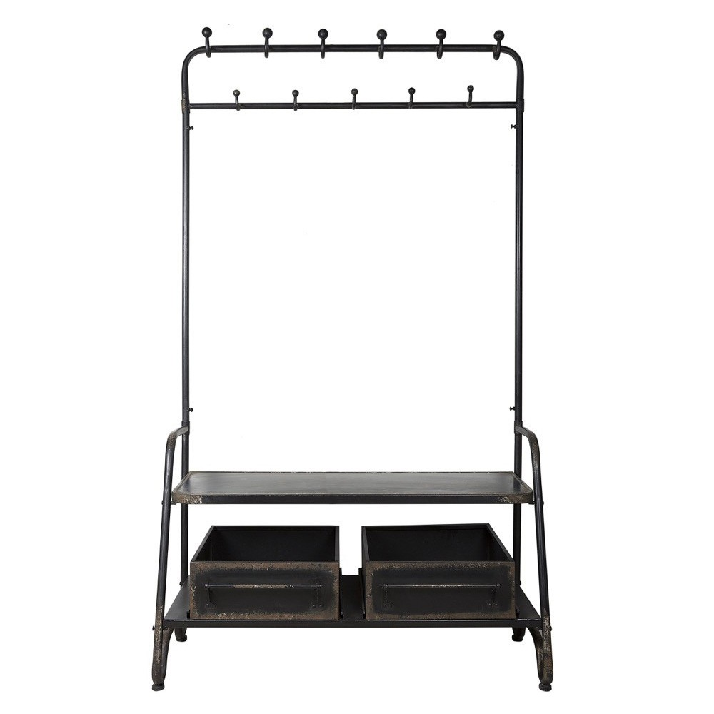 Detroit Metal Hall Stand with Drawers