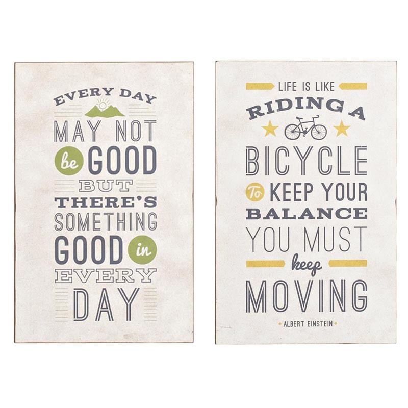 Albert 2 Piece Motto Wall Plaque Set