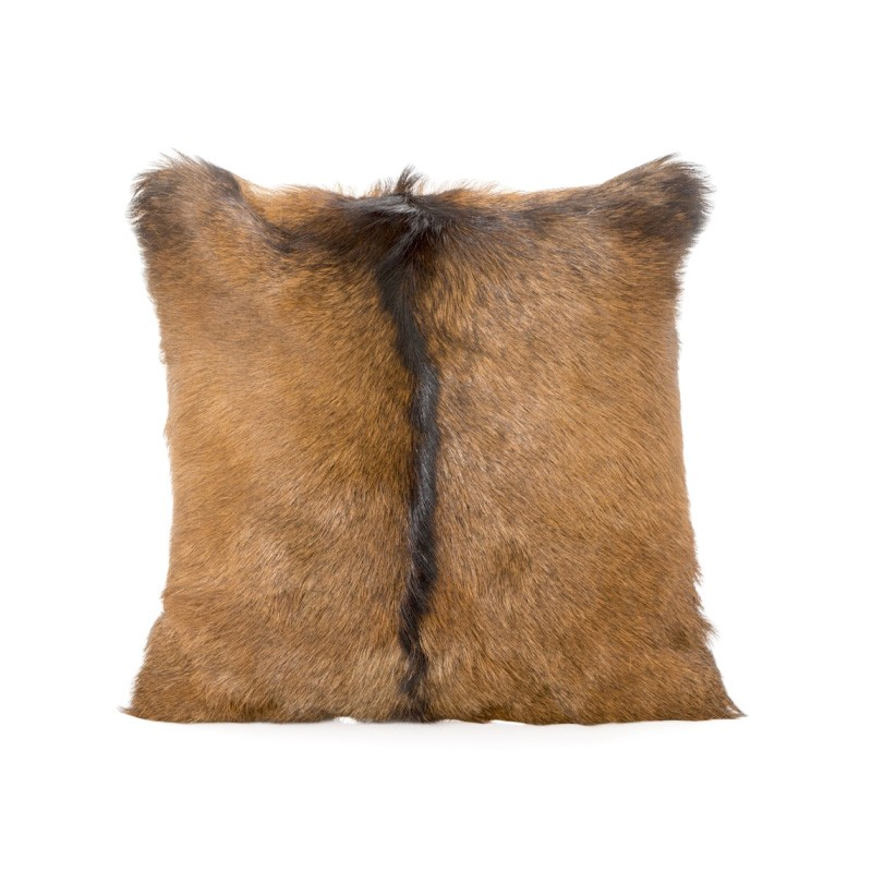 Petra Goat Fur Scatter Cushion, Tan