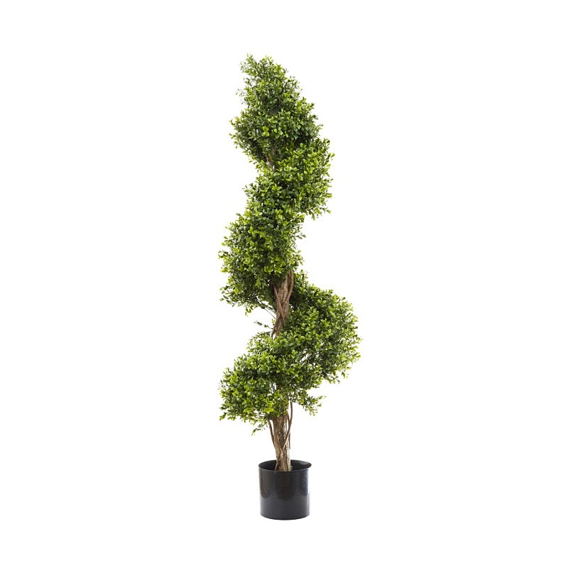 Artificial Boxwood Spiral Topiary Tree, 140cm