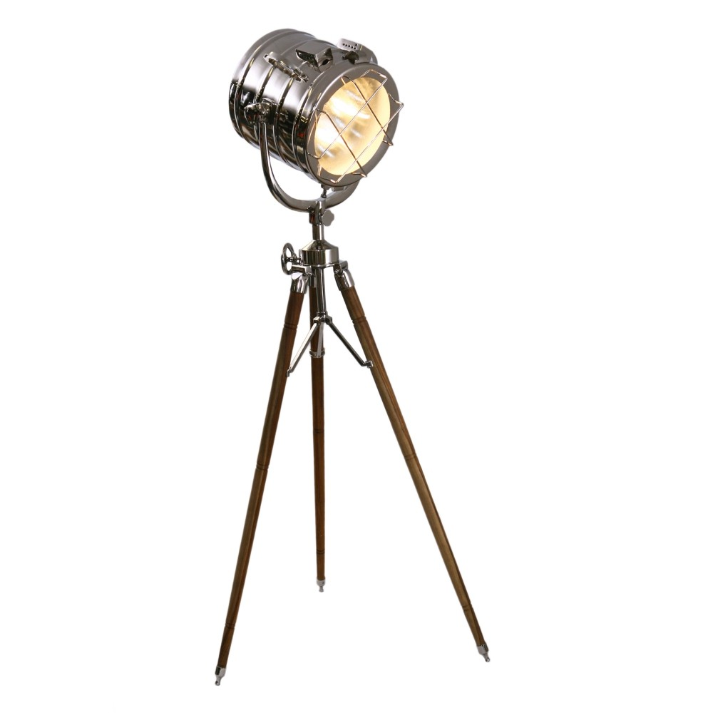Edwin Metal & Timber Tripod Floor Focus Lamp