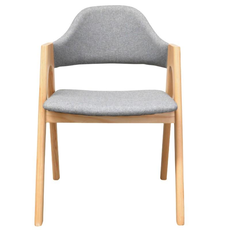 Alleso Fabirc Dning Armchair, Grey