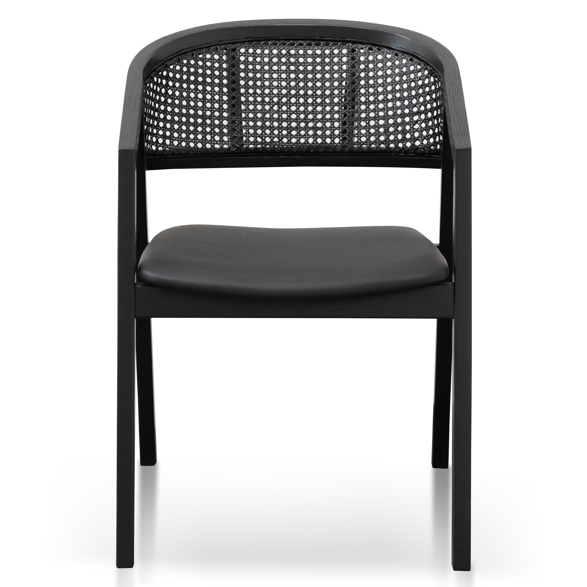 Hampden Wooden Dining Chair, Black