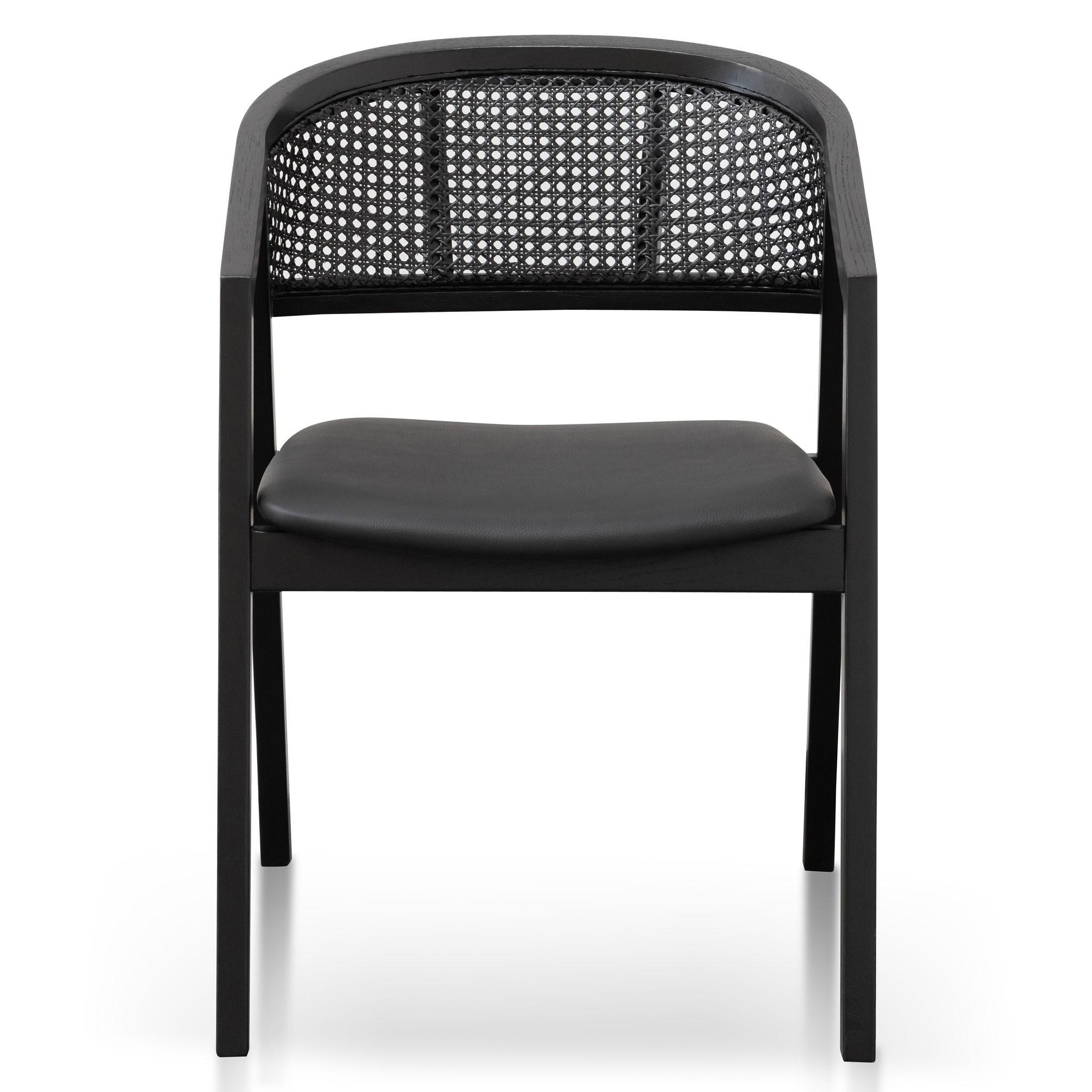 Hampden Wooden Dining Chair, Black
