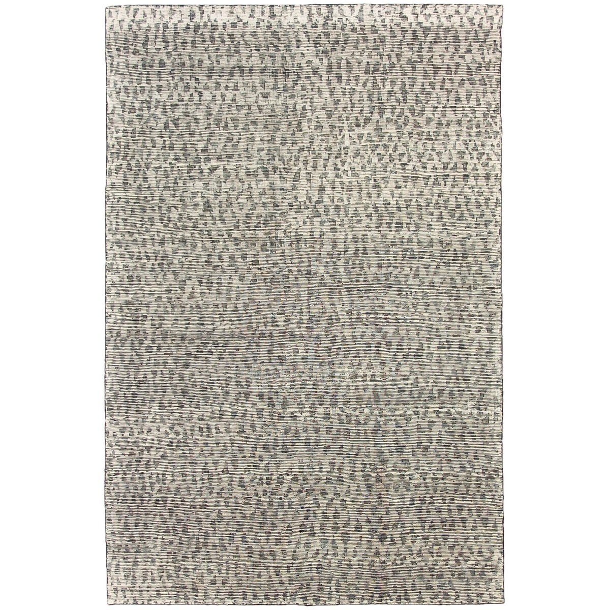 Deco Diamonds Hand Knotted Wool Rug, 300x400cm, Charcoal